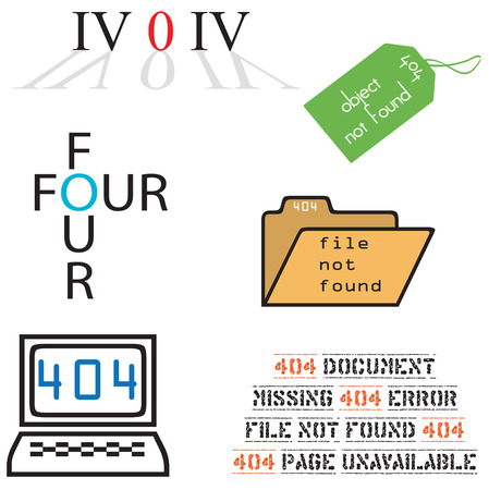 404 error icons Stock Vector - 7450910