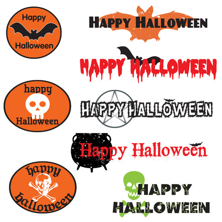 A set of graphics for halloween Stock Vector - 7495227