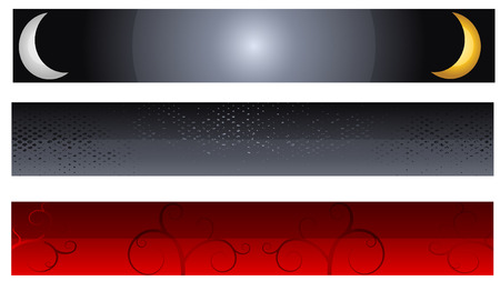 decorative web banners Stock Vector - 7495236