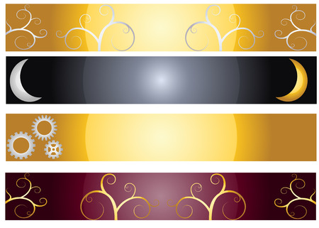 Decorative web banners Stock Vector - 7495234