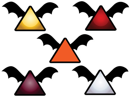 samhain: flying bat icons