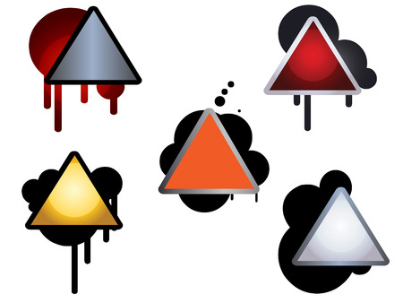 icons with oil or paint drips Vector
