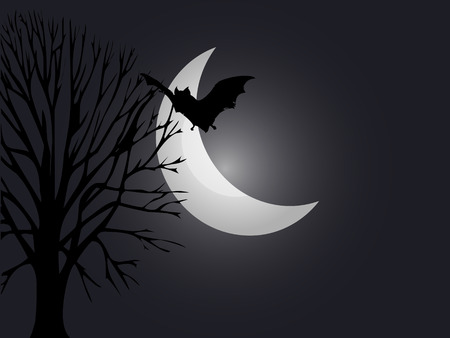 A spooky night background for Halloween Stock Vector - 7513021