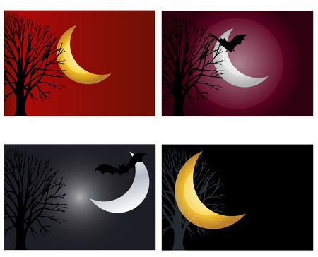 moonlit night  set Stock Vector - 7513020