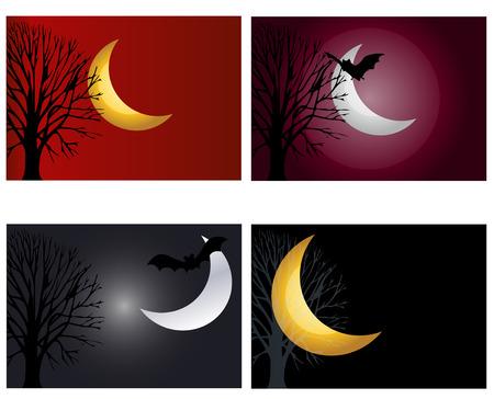 moonlit night  set Stock Vector - 7513020