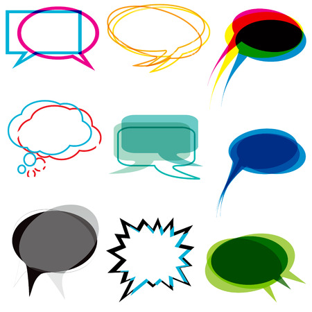 Abstract speech and thought bubbles