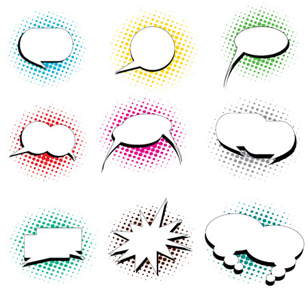 pop art style speech bubbles Stock Vector - 7576874