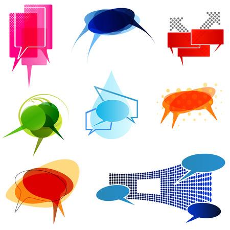 Abstract speech bubbles Stock Vector - 7576872