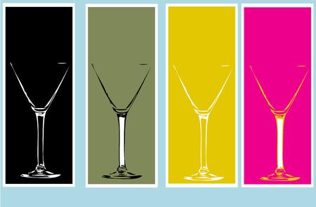 gastfreundschaft: Cocktail-Glas Grafik Illustration