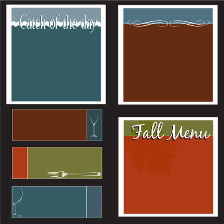 restaurant menus and backgrounds Stock Vector - 7647888