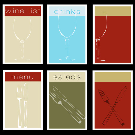 bistro menu set Illustration
