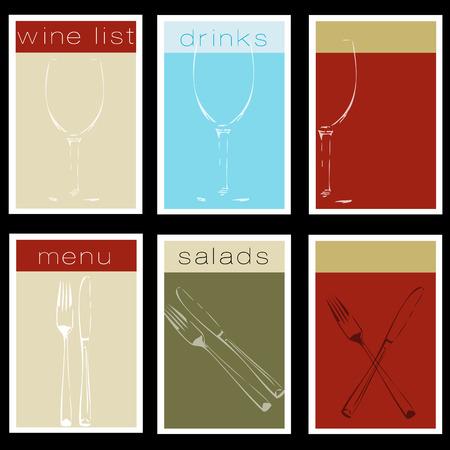 bistro menu set Illustration