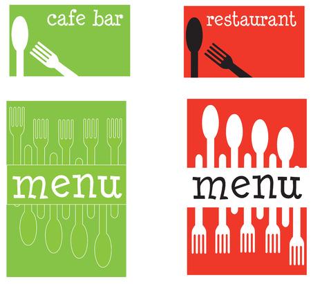 menu and business card set
