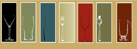 material de vidrio: Los elementos de men� de dise�o