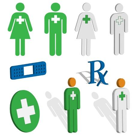 ems: M�dico y de primeros auxilios iconos