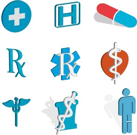 ems: Medical icons Illustration