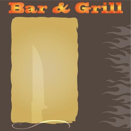 fiery font: Bar and Grill Men�-Hintergrund
