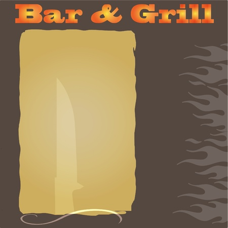 Bar and Grill Menu background Vector
