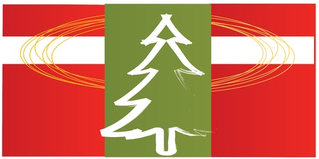 Red and green Christmas background Stock Vector - 12244788