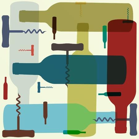 オープナー: レトロなスタイルのワインの背景