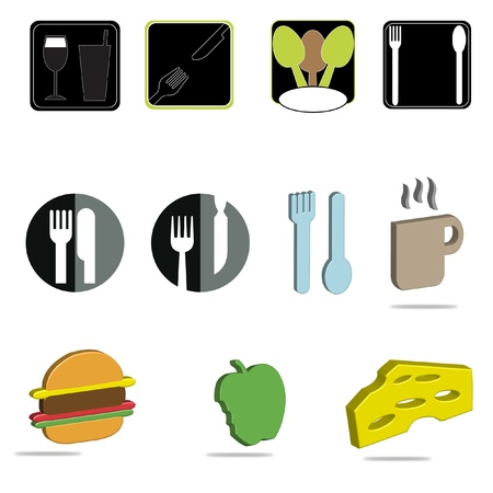 A set of food and drink icons Stock Vector - 12483689