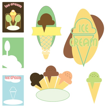 Ice cream graphics Vector
