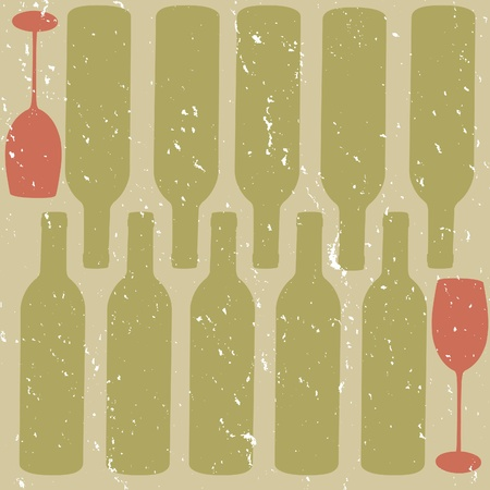 distressed wine background Vector