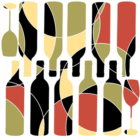 retro wine background Vector