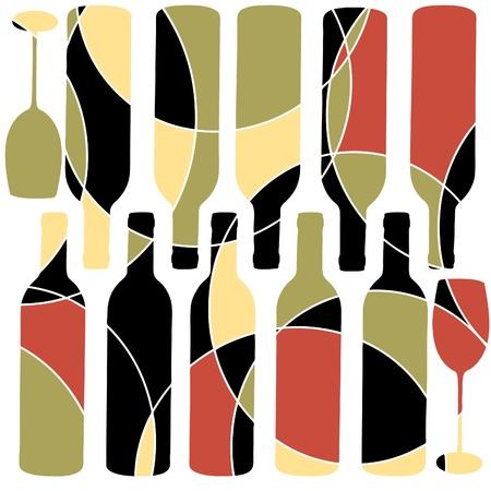 retro wine background Vector