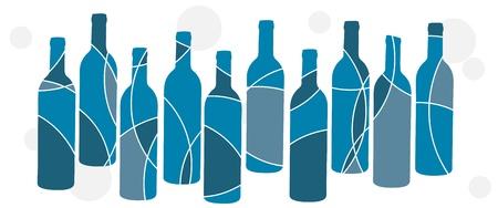 blue retro bottle background Vector