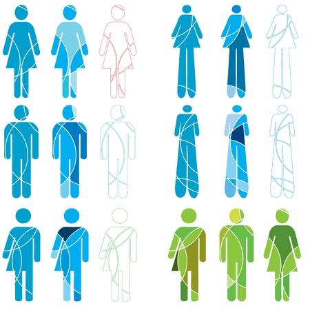 Iconos Humanos de género Ilustración de vector