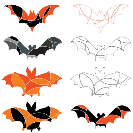 samhain: Abstract halloween bats Illustration