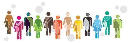 La diversità umana Vettoriali