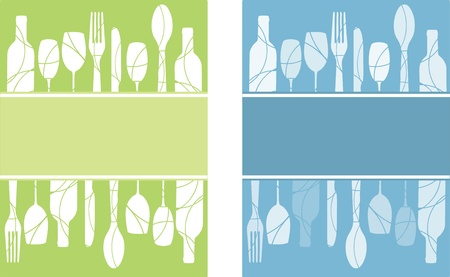 eating utensil: Menu or flyer  backgrounds Illustration