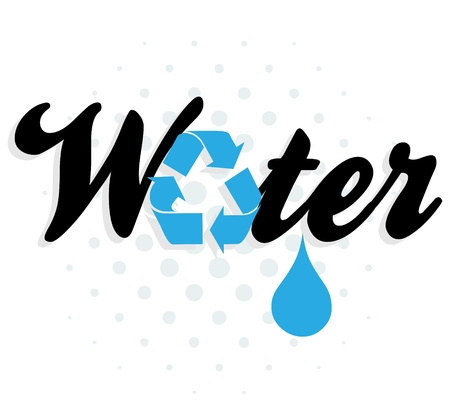 water recycling graphic Stock Vector - 16594274