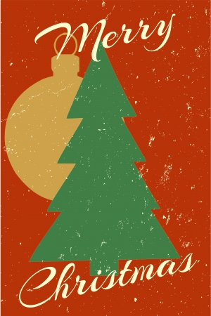 A vintage style merry christmas graphic