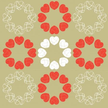 A circular love hearts design pattern Stock Vector - 17212250