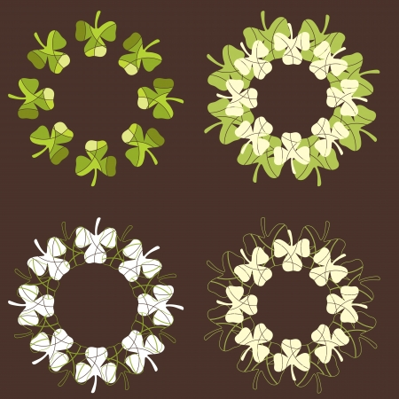 A set of shamrock designs Stock Vector - 17212265