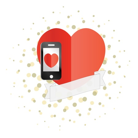 A smartphone valentine concept Stock Vector - 17227341