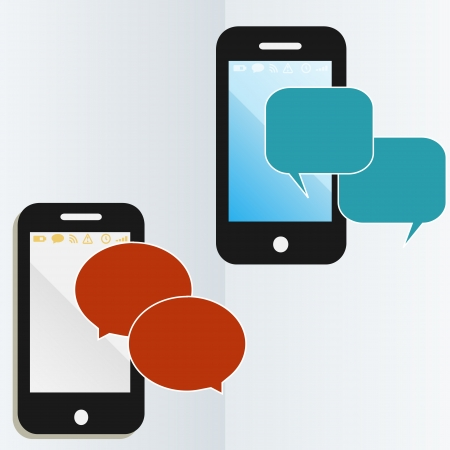 mobile phone communications graphics Illustration