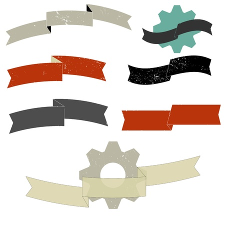 Grunge ribbon set Stock Vector - 17931298