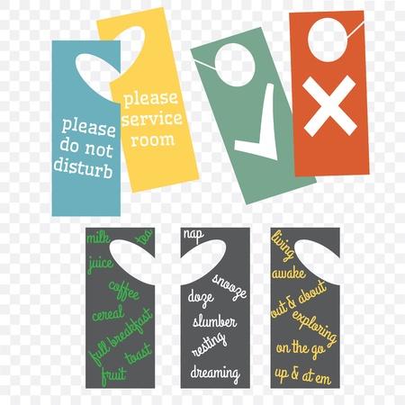 overnight: Hotel room door hangers