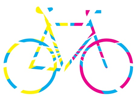 colourful bicycle graphic