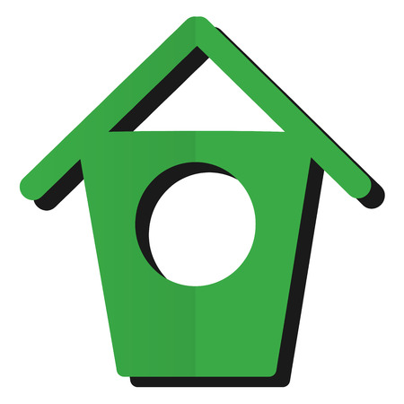 abode: Green birdhouse