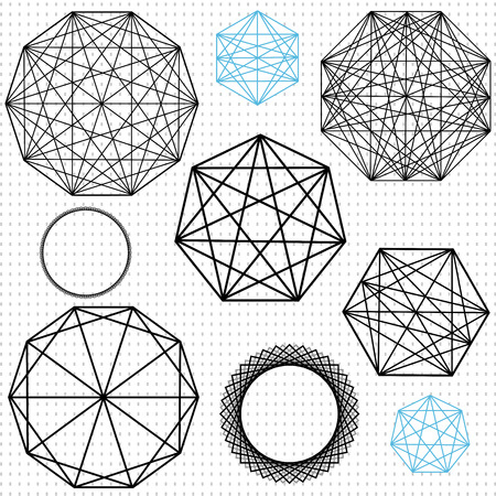 intersecting: complec polygon designs Illustration
