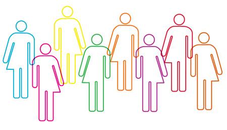 género diversidad ilustración