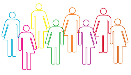 trans gender: gender diversity illustration