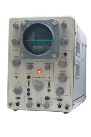 displaying: old oscillograph, displaying a line Stock Photo