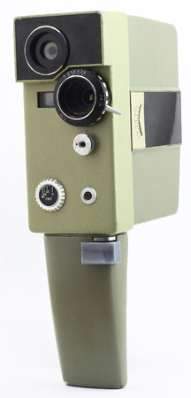 filmmaker: obsolete home movie camera for the production of amateur cinema Stock Photo