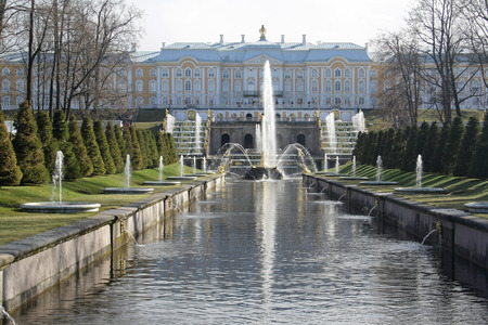 complex: fountains complex in peterhof russia Editorial